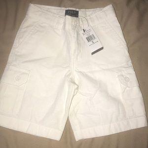 All white Polo Ralph Lauren cargo shorts size 5
